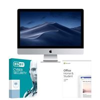 iMac MMQA2LL/A All-in-One Desktop Computer bundled with Microsoft Office Home and Student 2019 and ESET Cyber Security - (1) 3 Year Subscription
