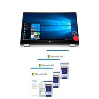 HP Pavilion x360 Convertible 15-dq1052nr Laptop Computer bundled with Microsoft 365 Family - (3) 1 Year Subscriptions