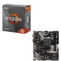AMD Ryzen 5 3600 with Wraith Stealth Cooler, ASRock B450M-HDV R4.0, CPU / Motherboard Bundle