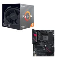 AMD Ryzen 5 3600X with Wraith Spire Cooler, ASUS B550-F ROG Strix Gaming, CPU / Motherboard Bundle