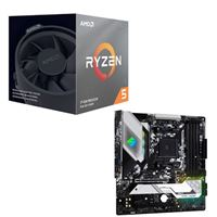 AMD Ryzen 5 3600X with Wraith Spire Cooler, ASRock B550M Steel Legend, CPU / Motherboard Bundle