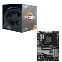 AMD Ryzen 5 3600X with Wraith Spire Cooler, ASRock B450 PRO4, CPU / Motherboard Bundle