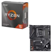 AMD Ryzen 5 3600 with Wraith Stealth Cooler, Gigabyte B550 AORUS Pro AC, CPU / Motherboard Bundle