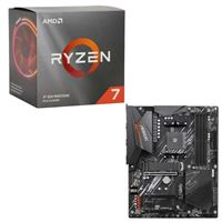 AMD Ryzen 7 3700X with Wraith Prism Cooler, Gigabyte B550 AORUS Elite, CPU / Motherboard Bundle