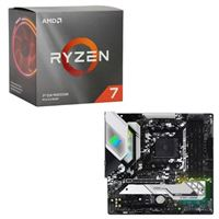AMD Ryzen 7 3700X with Wraith Prism Cooler, ASRock B550M Steel Legend, CPU / Motherboard Bundle