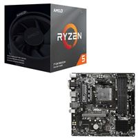 AMD Ryzen 5 3600XT with Wraith Spire Cooler, MSI B450 M...