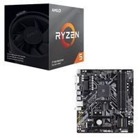 AMD Ryzen 5 3600XT with Wraith Spire Cooler, Gigabyte B450M DS3H, CPU / Motherboard Bundle