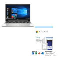 HP ProBook 450 G7 bundled with Microsoft 365 Family 1 Year