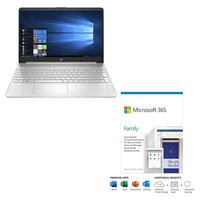 HP 15-ef1072nr bundled with Microsoft 365 Family 1 Year
