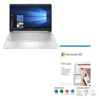 HP 15-ef1072nr bundled with Microsoft 365 Personal 1 Year