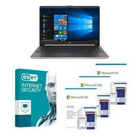 HP 15dy1038nr Laptop bundled with Microsoft 365 Family 3x 1 Year and ESET Internet Security 1x 3 Years