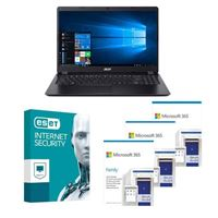 Acer Aspire 3 A315 56502L Laptop bundled with Microsoft 365 Family 3x 1 Year and ESET Internet Security 1x 3 Years