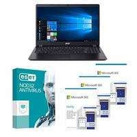 Acer Aspire 3 A315 56502L Laptop bundled with Microsoft 365 Family 3x 1 Year and ESET NOD32 Antivirus 1x 3 Years
