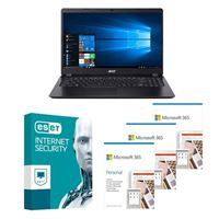 Acer Aspire 3 A315 56502L Laptop bundled with Microsoft 365 Personal 3x 1 Year and ESET Internet Security 1x 3 Years