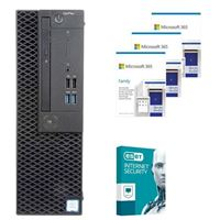 Dell OptiPlex 3070 CPJT9 SFF Desktop bundled with Microsoft 365 Family 3x 1 Year and ESET Internet Security 1x 3 Years