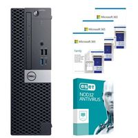 Dell OptiPlex 3070 88NV2 SFF Desktop bundled with Microsoft 365 Family 3x 1 Year and ESET NOD32 Antivirus 1x 3 Years
