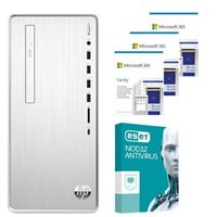 HP Pavilion 6YR68AAABA Desktop bundled with Microsoft 365 Family 3x 1 Year and ESET NOD32 Antivirus 1x 3 Years
