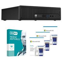 HP EliteDesk 800 G1 USFF Refurbished Desktop bundled with Microsoft 365 Family 3x 1 Year and ESET NOD32 Antivirus 1x 3 Years