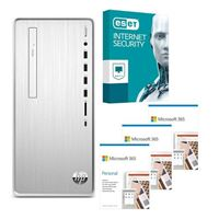 HP Pavilion 6YR68AAABA Desktop bundled with Microsoft 365 Personal 3x 1 Year and ESET Internet Security 1x 3 Years