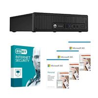 HP EliteDesk 800 G1 USFF Refurbished Desktop bundled with Microsoft 365 Personal 3x 1 Year and ESET Internet Security 1x 3 Years