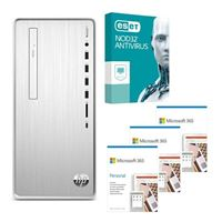 HP Pavilion 6YR68AAABA Desktop bundled with Microsoft 365 Personal 3x 1 Year and ESET NOD32 Antivirus 1x 3 Years