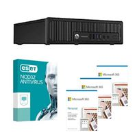 HP EliteDesk 800 G1 USFF Refurbished Desktop bundled with Microsoft 365 Personal 3x 1 Year and ESET NOD32 Antivirus 1x 3 Years