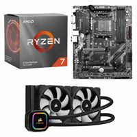 AMD Ryzen 7 3700X, MSI B450 Tomahawk Max, Corsair H100i Pro XT 240mm Water Cooling Kit, Computer Build Bundle