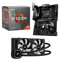 AMD Ryzen 7 3700X, MSI X570 MPG Gaming Edge WiFi, Corsair H100i Pro XT 240mm Water Cooling Kit, Computer Build Bundle