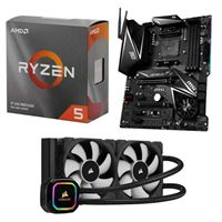 AMD Ryzen 5 3600, MSI X570 MPG Gaming Edge WiFi, Corsair H100i Pro XT 240mm Water Cooling Kit, Computer Build Bundle	5004402	Computer Build Bundles	NR