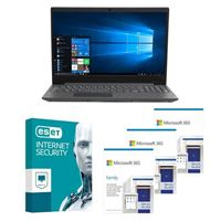 Lenovo V15 IIL Laptop bundled with Microsoft 365 Family 3x 1 Year and ESET Internet Security 1x 3 Years