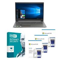 Lenovo IdeaPad 3 17 Laptop bundled with Microsoft 365 Family 3x 1 Year and ESET Internet Security 1x 3 Years