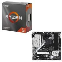 AMD Ryzen 5 3600 with Wraith Stealth Cooler, ASRock B550M Pro4, CPU / Motherboard Bundle