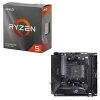 AMD Ryzen 5 3600 with Wraith Stealth Cooler, ASUS B550-I ROG Strix Gaming, CPU / Motherboard Bundle