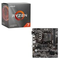 AMD Ryzen 7 3700X with Wraith Prism Cooler, MSI B550M PRO-VDH WiFi, CPU / Motherboard Bundle
