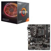 AMD Ryzen 7 3800X with Wraith Prism Cooler, MSI B550M PRO-VDH WiFi, CPU / Motherboard Bundle