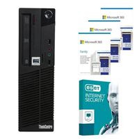 Lenovo ThinkCentre E73 SFF Desktop bundled with Microsoft 365 Family 3x 1 Year and ESET Internet Security 1x 3 Years