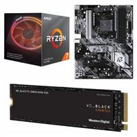 AMD Ryzen 7 3800X with Wraith Prism Cooler, ASRock B550 Phantom Gaming 4, WD Black SN850 1TB SSD, Computer Build Bundle