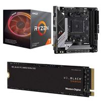 AMD Ryzen 7 3800X with Wraith Prism Cooler, ASRock B550 Phantom Gaming, WD Black SN850 1TB SSD, Computer Build Bundle